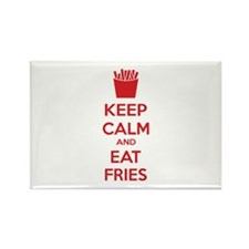 Keep calm and eat fries Rectangle Magnet (10 pack)