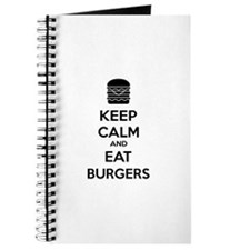 Keep calm and eat burgers Journal