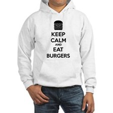 Keep calm and eat burgers Hoodie