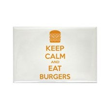 Keep calm and eat burgers Rectangle Magnet