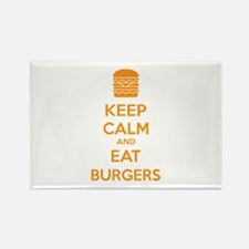 Keep calm and eat burgers Rectangle Magnet (10 pac