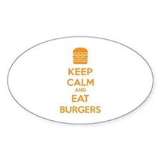 Keep calm and eat burgers Decal