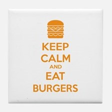 Keep calm and eat burgers Tile Coaster
