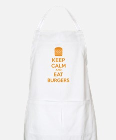 Keep calm and eat burgers Apron