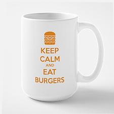 Keep calm and eat burgers Mug