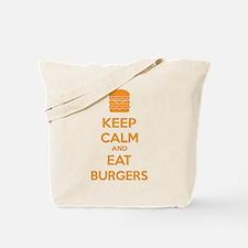 Keep calm and eat burgers Tote Bag