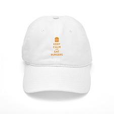 Keep calm and eat burgers Baseball Cap