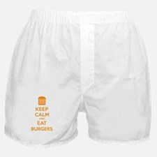 Keep calm and eat burgers Boxer Shorts