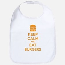 Keep calm and eat burgers Bib