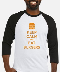Keep calm and eat burgers Baseball Jersey