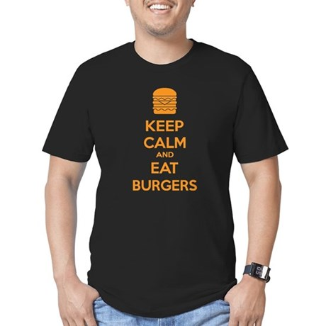 Keep calm and eat burgers Men's Fitted T-Shirt (da