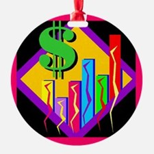Colorful Bar Chart Ornament (Round)