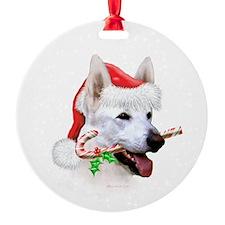 White Shep Ornament (Round)