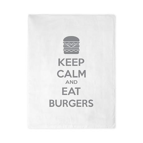 Keep calm and eat burgers Twin Duvet