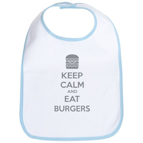 Keep calm and eat burgers Bib
