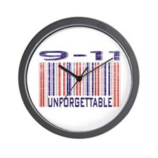 9-11 Unforgettable September 11th Wall Clock