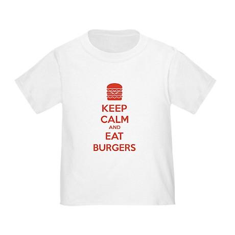 Keep calm and eat burgers Toddler T-Shirt