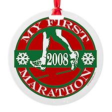 My First Marathon - 2008 Ornament (Round)