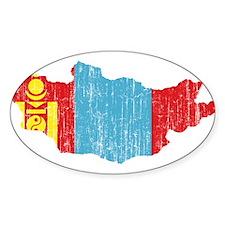 Mongolia Flag And Map Decal
