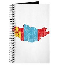 Mongolia Flag And Map Journal