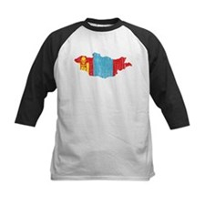 Mongolia Flag And Map Tee