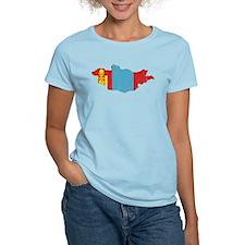Mongolia Flag And Map T-Shirt