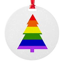 Rainbow Christmas Tree Ornament (Round)