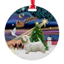 Xmas Magic & Sealyham Terrier Ornament (Round)