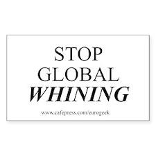 Global Whining Eurogeek Rectangle Decal