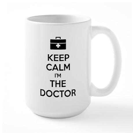 Keep calm I'm the doctor Large Mug