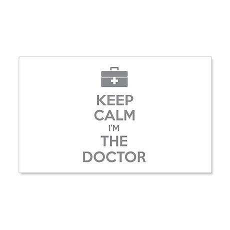 Keep calm I'm the doctor 22x14 Wall Peel