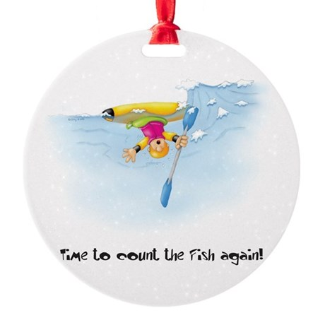Kayak Capers 12 Ornament (Round)