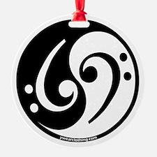 Yin Yang Bass Note Ornament (Round)