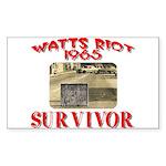 1965 Watts Riot Survivor Sticker (Rectangle)