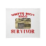 1965 Watts Riot Survivor Throw Blanket