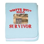 1965 Watts Riot Survivor baby blanket