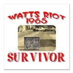 1965 Watts Riot Survivor Square Car Magnet 3