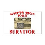 1965 Watts Riot Survivor Rectangle Car Magnet