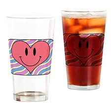 Cute Happy Heart Drinking Glass