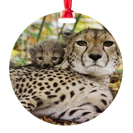 Safe with Mom Ornament (Round)