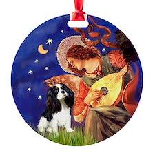 Mandolin Angel & Tri Cavalier Ornament (Round)