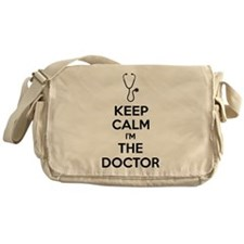 Keep calm I'm the doctor Messenger Bag