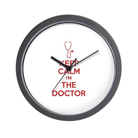 Keep calm I'm the doctor Wall Clock