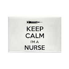 Keep calm I'm a nurse Rectangle Magnet