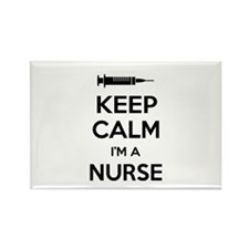 Keep calm I'm a nurse Rectangle Magnet (10 pack)