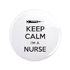 """Keep calm I'm a nurse 3.5"""" Button (100 pack)"""