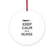 Keep calm I'm a nurse Ornament (Round)