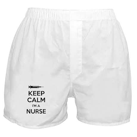 Keep calm I'm a nurse Boxer Shorts