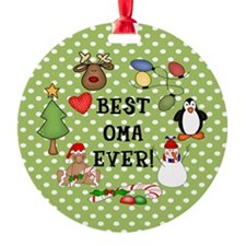 Best Oma Ever Christmas Ornament (Round)