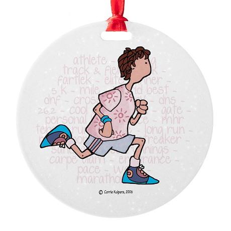 Runner VII Ornament (Round)